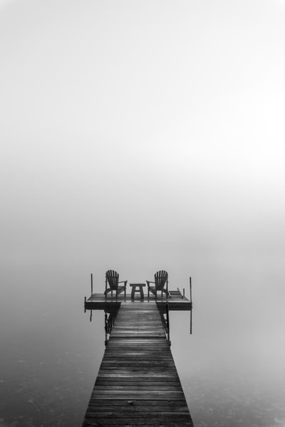 Adirondack B&W Dock Photography Art | Kurt Gardner Photogarphy Gallery