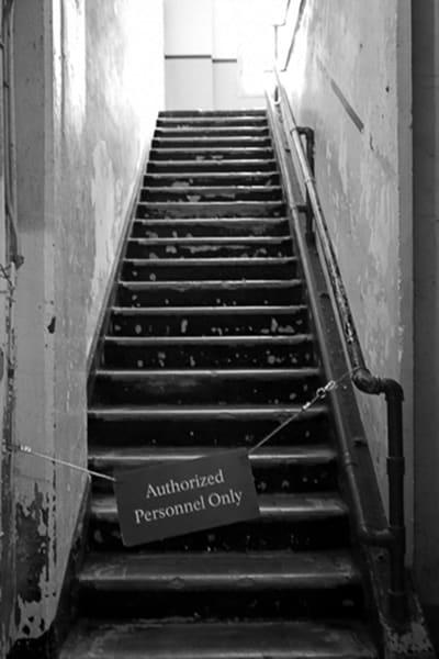 Alcatraz Staircase Photography Art | CLAUDIA LARRAIN