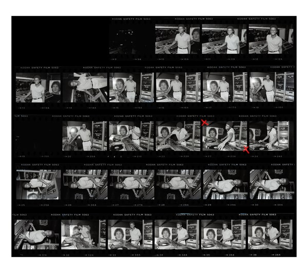 Dj Larry Levan, Contact Sheet, 1979 Photography Art | Bill Bernstein Fine Art Collection