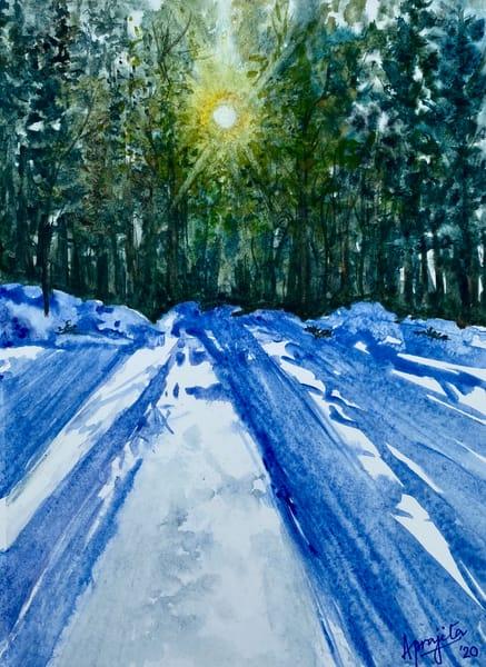 """Sun and Snow"" in Watercolors by Aprajita Lal"