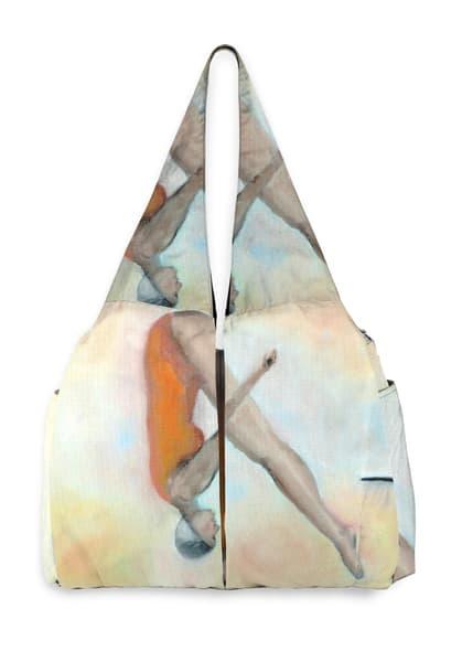 Swan Dive Yoga Bag Designed by Artist