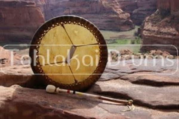 Bison drum by renowned Navajo artisan Paul Tohlakai