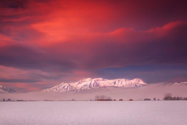 south fields winter dawn
