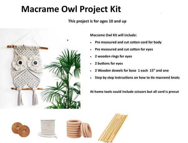 Macrame Owl Art Kit | Rosanne Nitti Fine Arts
