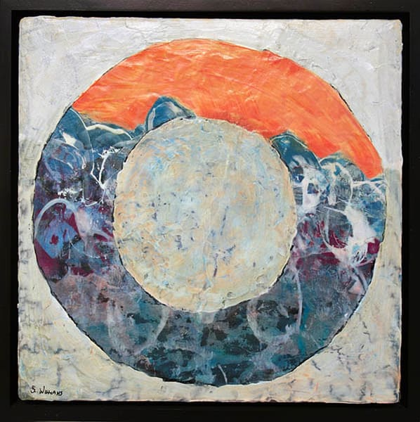 Rolling Stone #1 - Part of a new series of paintings by Windsor artist, Shirley Williams.