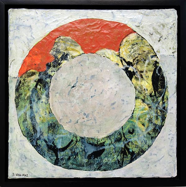 See Rolling Stone #2 - part of a new series of paintings by contemporary  artist, Shirley Williams.
