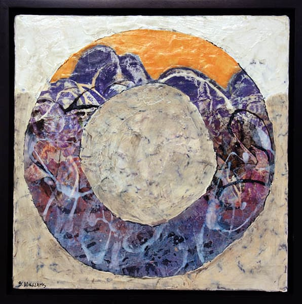 Rolling Stone #3 - Orange & Purple in the series by Windsor artist, Shirley Williams.