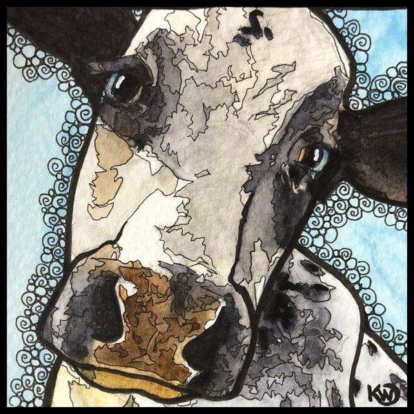 Moo 02 Original Art | Water+Ink Studios