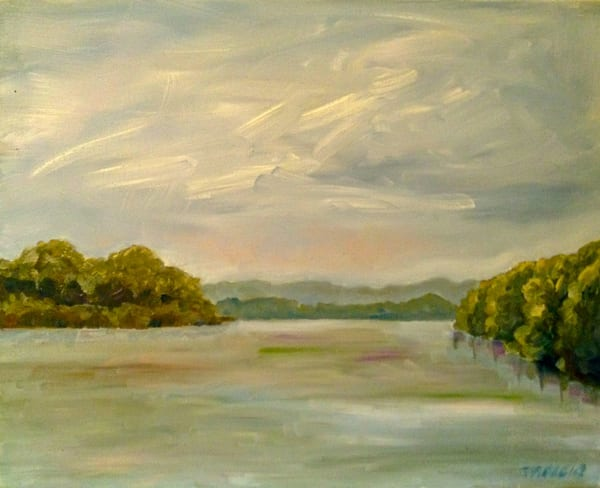 Missouri River At Portland, Private Collection Art | Wild Ponies creations
