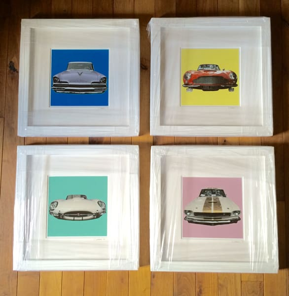 Vintage Cars Series, Matted And Framed Photography Art   Claudia Larrain