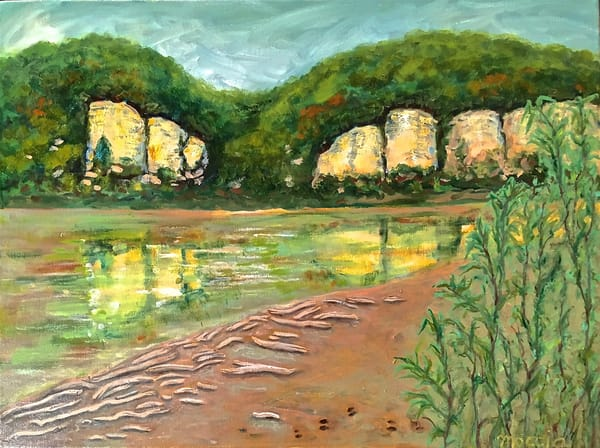 Missouri River Bluffs, Private Collection Art | Wild Ponies creations