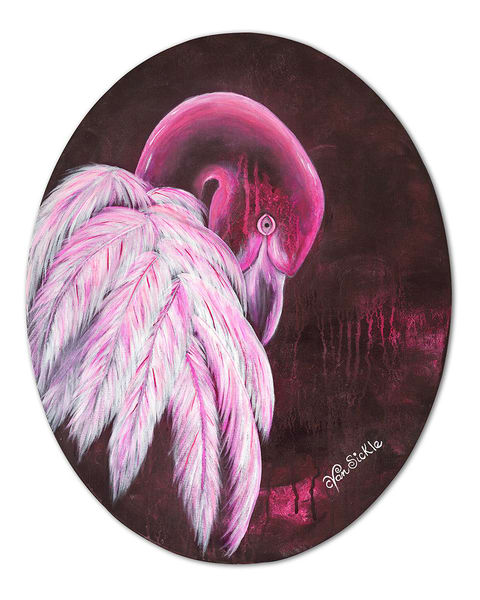 """Flamingo"" fine art print by Christine VanSickle."
