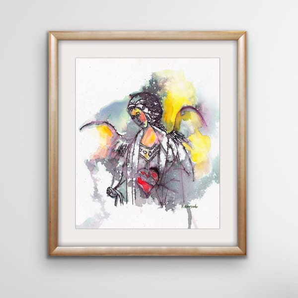 """Watercolor Angel   Abstract"" Art 