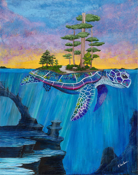 """Maturin the Turtle"" fine art print by Christine VanSickle."
