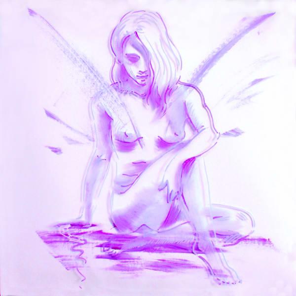 print  3dpainting Reflection lavender