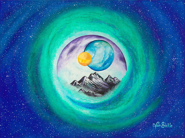 """Space Mountain"" fine art print by Christine VanSickle."