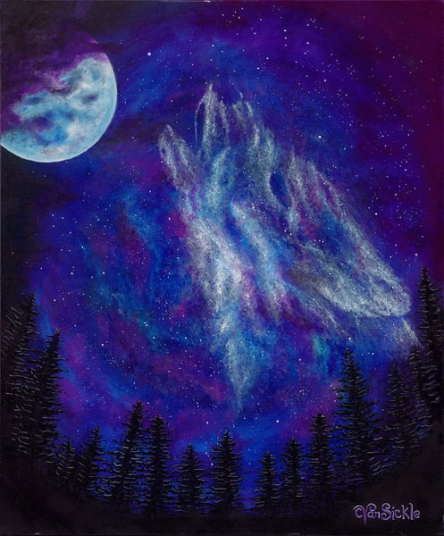 """The Howling"" fine art print by Christine VanSickle."