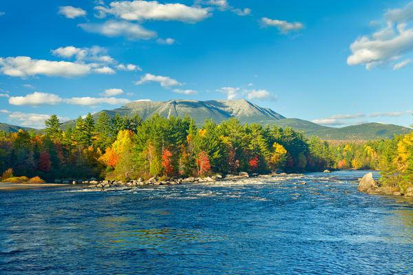 Mt Katahdin Abol Falls Autumn