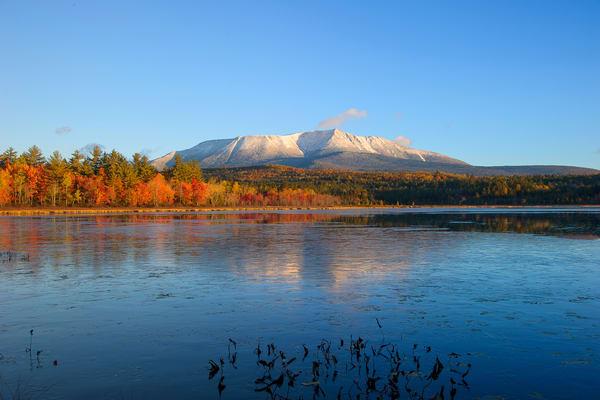 Mt Katahdin Compass Pond Autumn