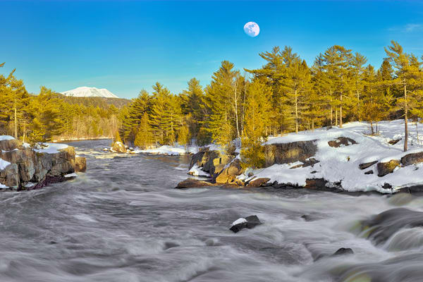 Mt Katahdin the Cribwork's Winter