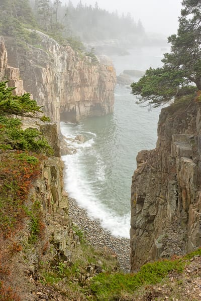 Raven's Nest in Fog, SP Acadia NP