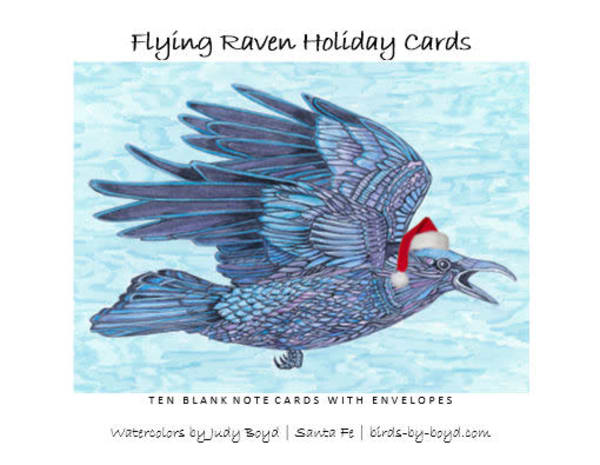 Flying Raven Holiday Cards Set | Birds by Boyd