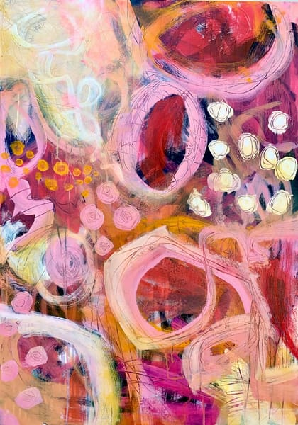 Pink Lemonade Bliss Art   Jessica Hughes Fine Art
