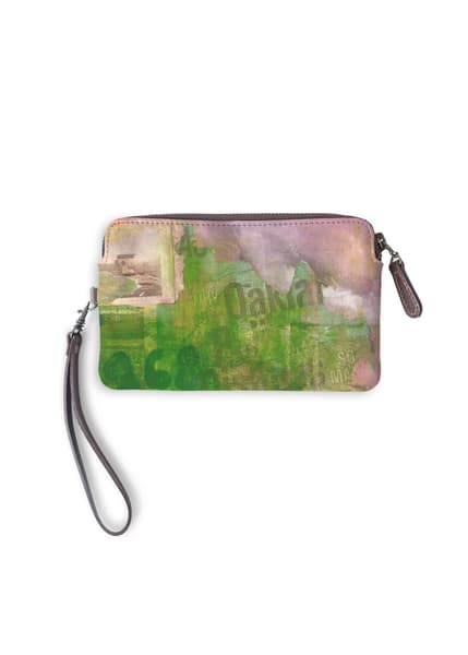 Oakland Leather Statement Clutch Designed by Artist