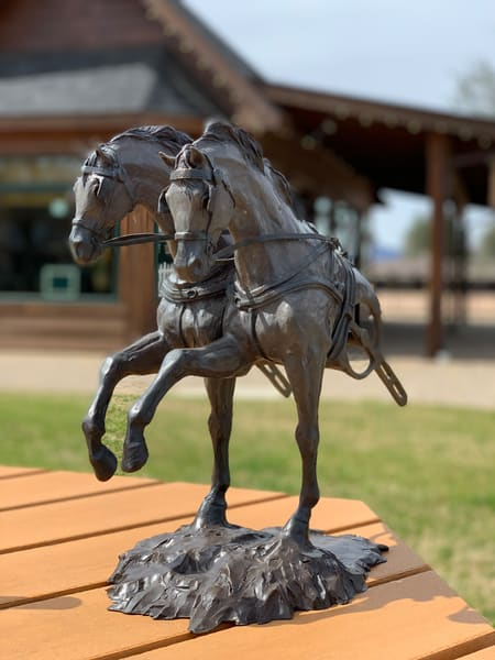 Force to be reckoned with driving horse Bronze Sculpture | Tammy Tappan Art