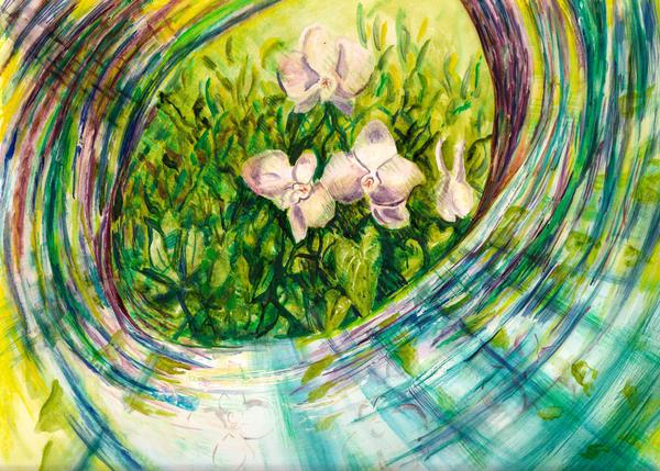 Orchid Swirl Art   Marisela Bracho