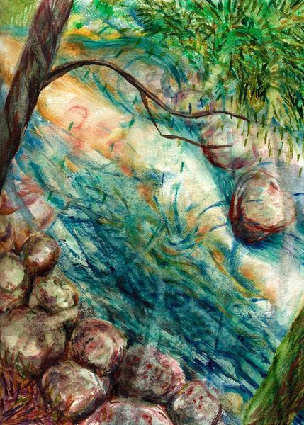 River Rush Art   Marisela Bracho