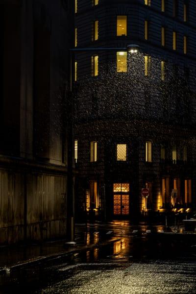 Nyc Winter Night   A Tribute To Edward Hopper Photography Art | LenaDi Photography LLC
