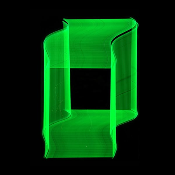 Green Neon Light Painting Photography Art | David Louis Klein