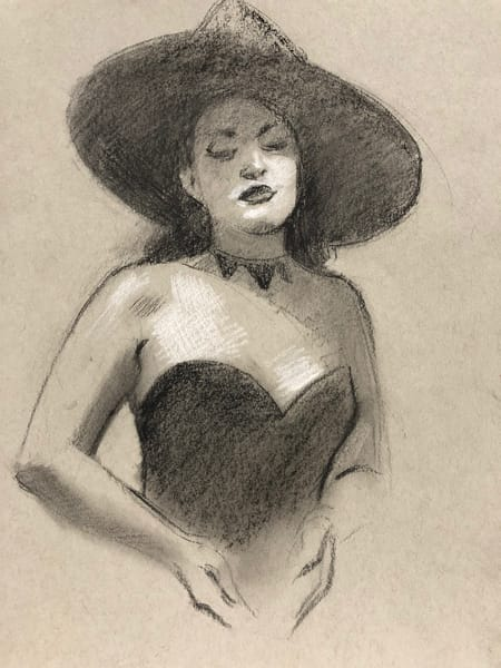 Witch Sketch (Original) Art | Adam Benet Shaw Studios