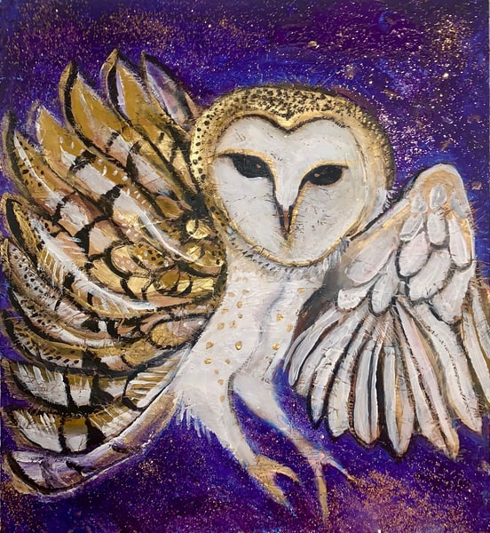 Owl In My Yard Art | DuggArt