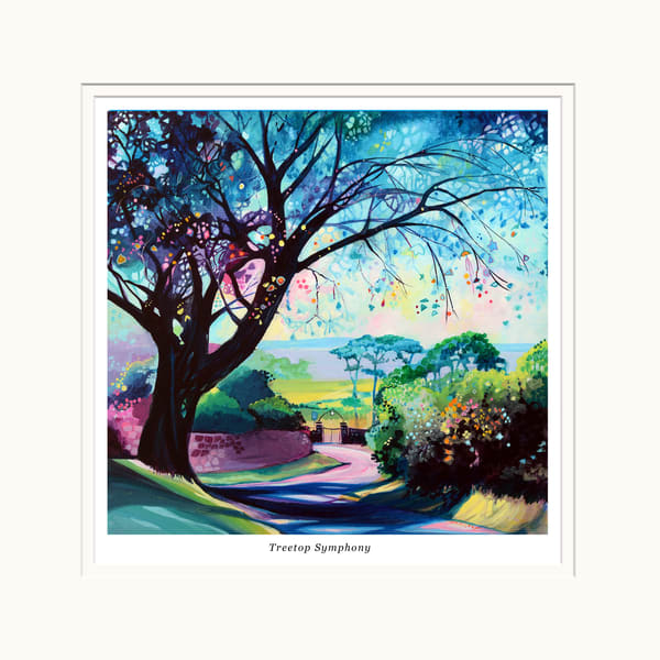 Mounted tree print, Gower