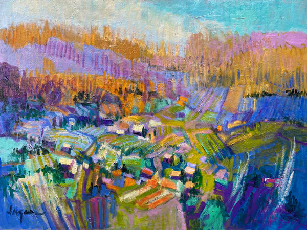 Oversize Abstract Landscapes, Canvas Art Prints by Dorothy Fagan