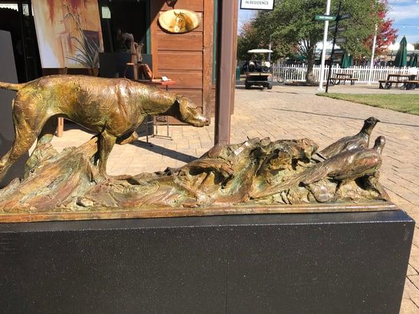 On Point Bronze Sculpture | Joe Wayne Art | Bronze Sculpture