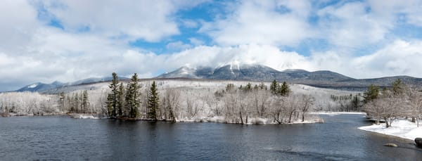 Katahdin in Winter from Abol Bridge