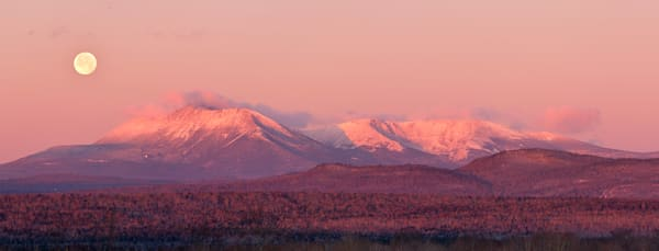 Katahdin Sunrise and Full Moon