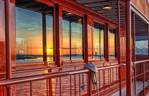 Edgartown Light Boat Reflection Art | Michael Blanchard Inspirational Photography - Crossroads Gallery