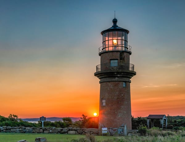 Gay Head Light Fall Sunrise  Art | Michael Blanchard Inspirational Photography - Crossroads Gallery