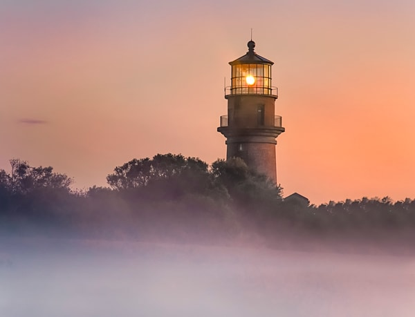 Gay Head Light Fog Sunrise Art | Michael Blanchard Inspirational Photography - Crossroads Gallery