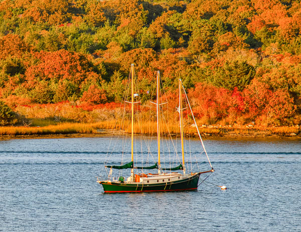 Quitsa Pond Sailboat Fall Art | Michael Blanchard Inspirational Photography - Crossroads Gallery