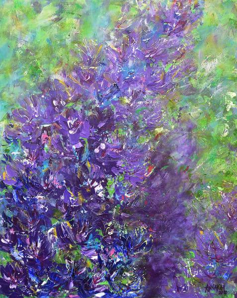 Purple Flower Original Painting – Lively Colors- Fine Art Prints on Canvas, Paper, Metal & More