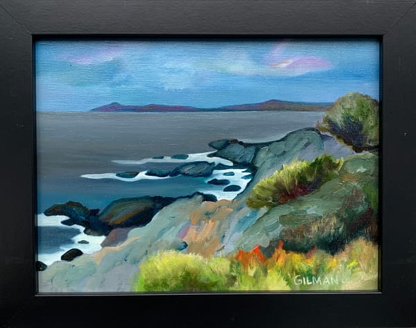 Coastal Maine Oil on Canvas Board Original Painting Landscape/Seascape