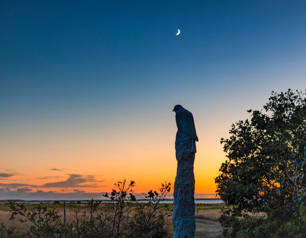 Long Point Statue Sunset Art | Michael Blanchard Inspirational Photography - Crossroads Gallery