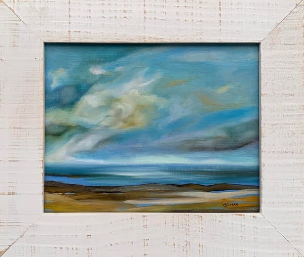 """Shore Memory"" Oil on Canvas Original Oceanscape"