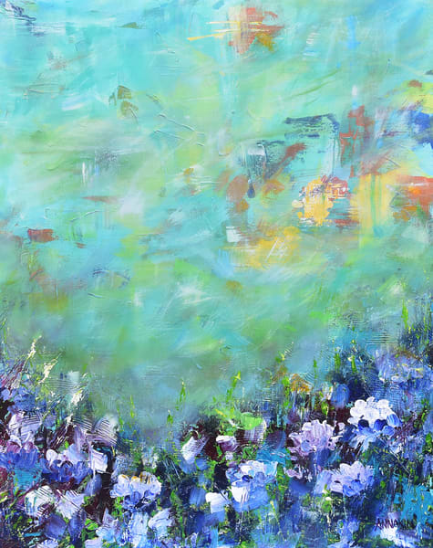 Her Happiness Mom or Mothers Garden Original Art – Colors Mothers Day - Fine Art Prints on Canvas, Paper, Metal & More