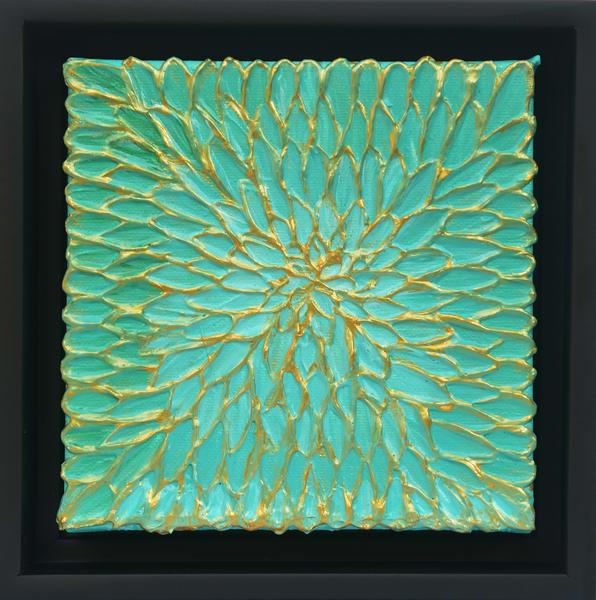 Aqua Dahlia Art | Anna Kim Studio